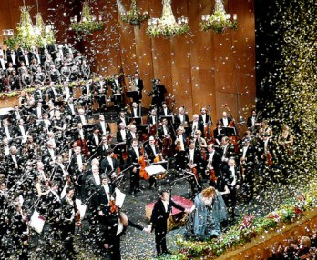 Venice New Year`s Concert at La Fenice Opera Theater Italy
